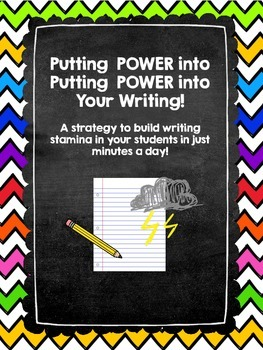 Build Writing Stamina through Power Writing!