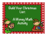Build Your Christmas List: A Money Math Activity