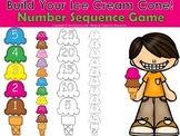 Build Your Ice Cream Cone! Number Sequence Game
