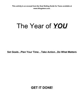 Life Vision Board for Teens- An Excerpt from Goal Setting Guide for Teens