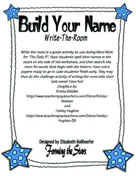 Build Your Name Write the Room