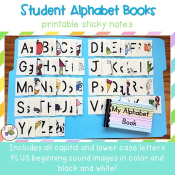 Build Your Own Alphabet Book {Printable Sticky Notes}