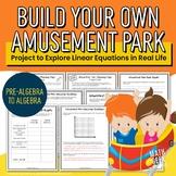 Build Your Own Amusement Park (Linear Equations Project)