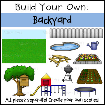 Build Your Own Backyard Clip Art