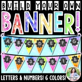 Build Your Own Watercolor Banner! Letters and Numbers 0-9,