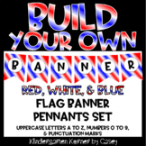 Build Your Own Banner Red White and Blue Flag Pennants A t