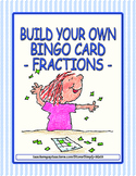 Build Your Own Bingo Card - Fractions