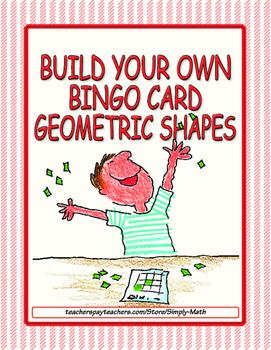 Build Your Own Bingo Card - Geometric Shapes
