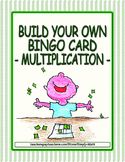 Build Your Own Bingo Card - Multiplication