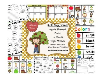 "Build Your Own Bundle: Choose Any 5 Sight Word ""Roll, Say, Keep!"" Games"