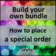 Build Your Own Bundle ~ Diamond Level, Special Order for Elizabeth
