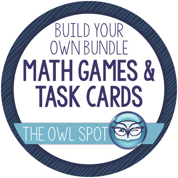 Build Your Own Bundle - Math Games and Task Cards Test Prep