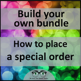 Build Your Own Bundle of Spanish Resources