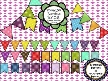 Build Your Own Bunting: White Polkadots