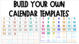 Build Your Own Calendar Template