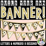 Build Your Own Chic & Glam Banner! Letters and Numbers 0-9