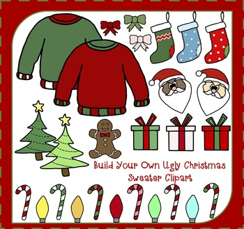 Build Your Own Christmas Sweater - Christmas Clipart