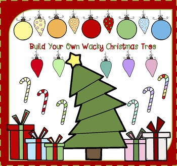 Build Your Own Christmas Tree - Wacky Christmas Tree - Christmas Clipart