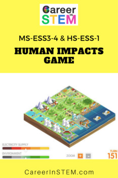 Build Your Own City! Human impacts game and project-based assessment