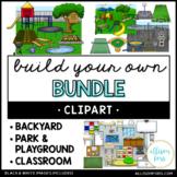 Backyard, Park/Playground, and Classroom Clip Art Bundle