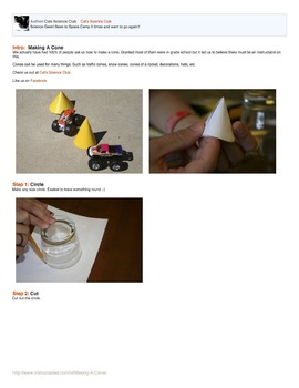 Build Your Own Cone with Step by Step Directions!