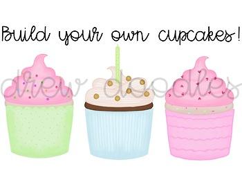 Build Your Own Cupcake Digital Clip Art Set