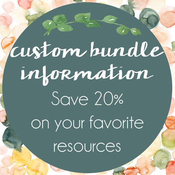 Build Your Own Custom Bundle - Save 20% on 5 Resources!