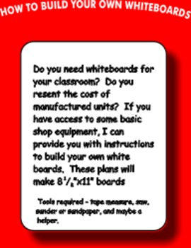 Build Your Own Dry Erase White Board