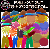 Build Your Own Felt Scarecrow (scribble clips)