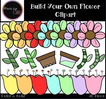 Build Your Own Flower Clipart - Flower Clipart