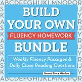 Build Your Own Fluency Homework Bundle