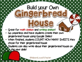 Build Your Own Gingerbread House for Google Drive (Counting Practice)