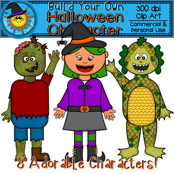 Build Your Own Halloween Character Clip Art
