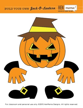 Build Your Own Jack-O-Lantern Clip Art