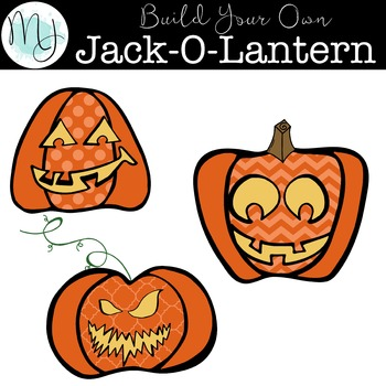 Build Your Own Jack-O-Lantern Clipart