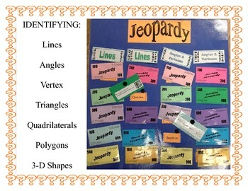 Build Your Own Jeopardy -Lines, Angles, Polygons, Triangle
