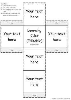 Build Your Own Learning Cube (Editable)