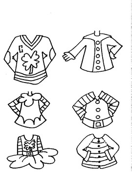 Build Your Own Leprechaun - Drawing Template
