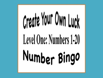 Number Bingo (Numbers 1-20) - Create Your Own Luck!