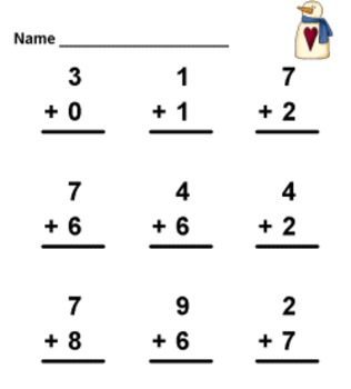 Build Your Own Math Holiday Addition Worksheets