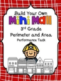 Build Your Own Mini-Mall-Perimeter and Area Task-3rd Grade Common Core