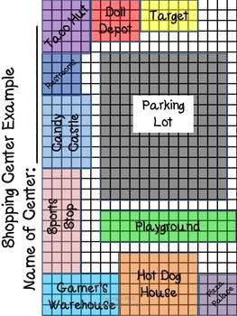 Build Your Own Mini-Mall-Perimeter and Area Task-3rd Grade Common Core