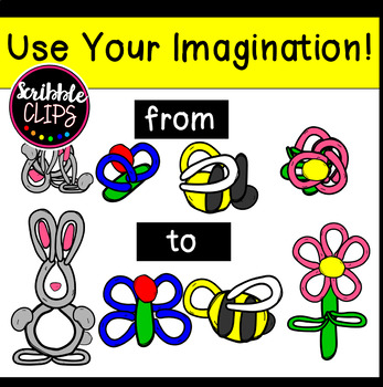 Build Your Own Modeling Clay Dough Images set 1 (scribble clips)