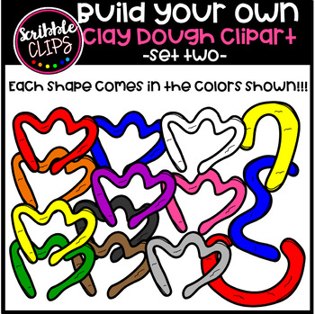 Build Your Own Modeling Clay Dough Images set 2 (scribble clips)