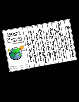 Build Your Own- Moon Phases Activity Book!