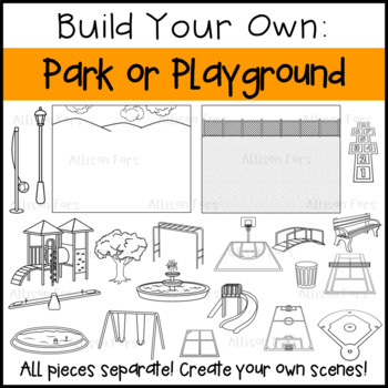 Build Your Own Park or Playground Clip Art
