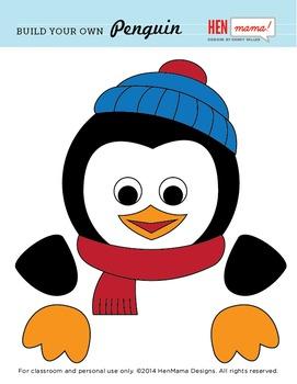 Build Your Own Penguin Clip Art
