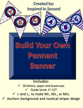 Build Your Own Pennant Banner ~ Nautical Anchors and Stripes