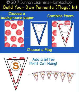 Build Your Own Pennants (Flags) kit
