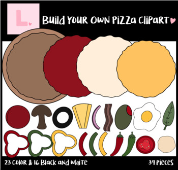 Build Your Own Pizza Clipart - Pizza Clipart